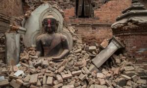 Buddha and bricks_April 2015 Nepal